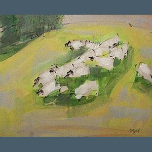 Bryce, oil, scotland, painting, sheep