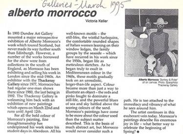Alberto Morrocco, review, painting, exhibition